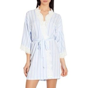 In Bloom by Jonquil Colorblock Stripe Short Robe